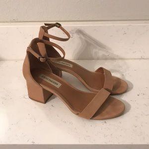 Camel colored Steve Madden heeled sandals